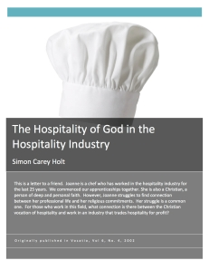 The Hospitality of God